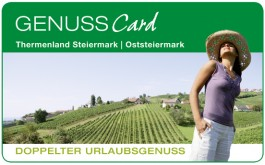 Genusscard des Thermenland Steiermark